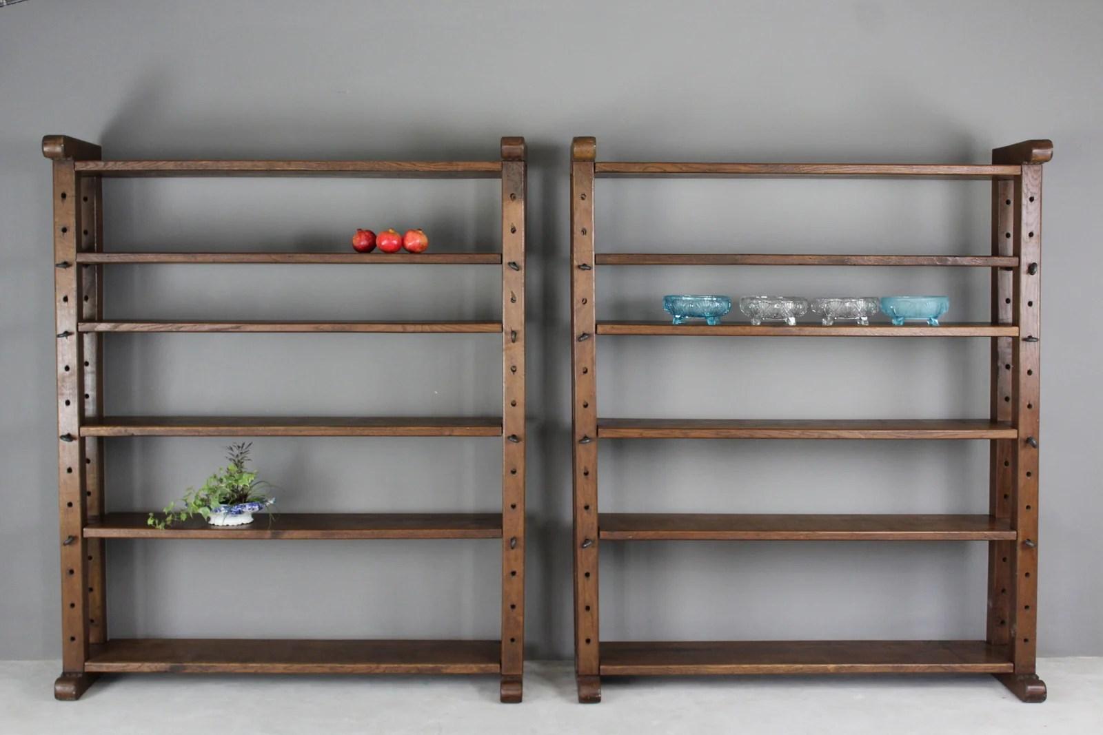 Large Oak Bookcase Shelves