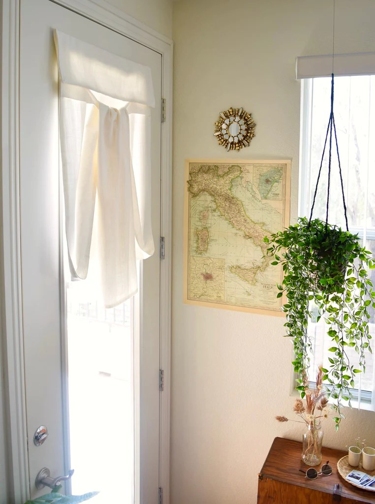white french door curtain color is off white