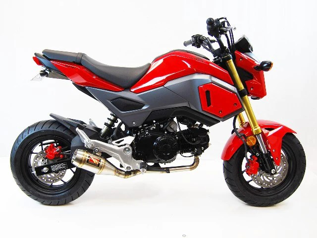 2017 2020 honda grom full system exhaust by competition werkes honda grom full system exhaust