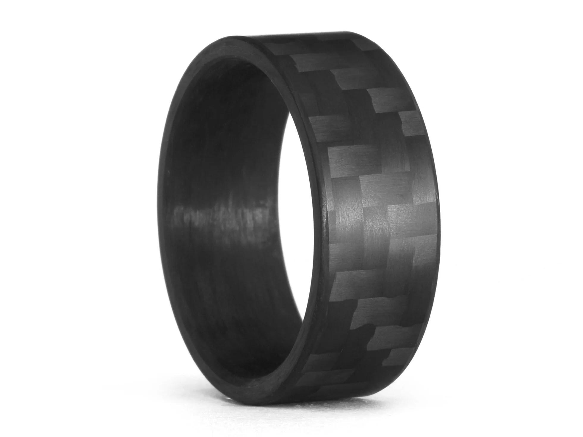 Oliver Paul Canton Matte Carbon Fiber Ring Carbon Fiber Gear