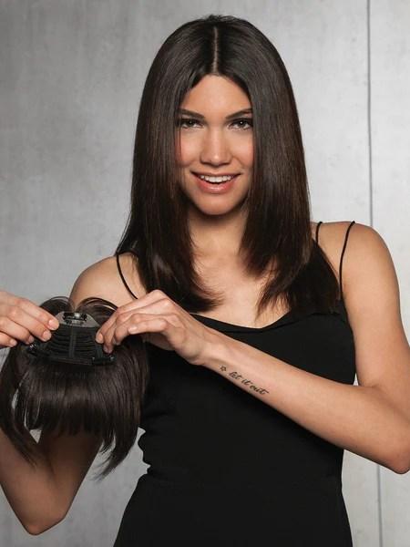 Clip In Human Hair FringeBang By HAIRDO