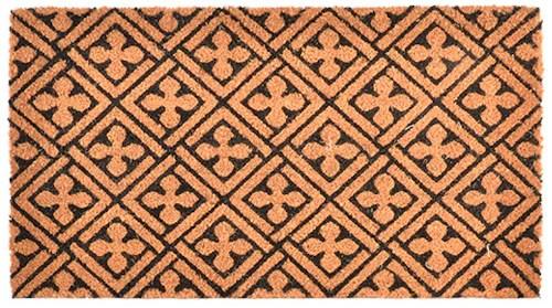 tapis fibre coco croix