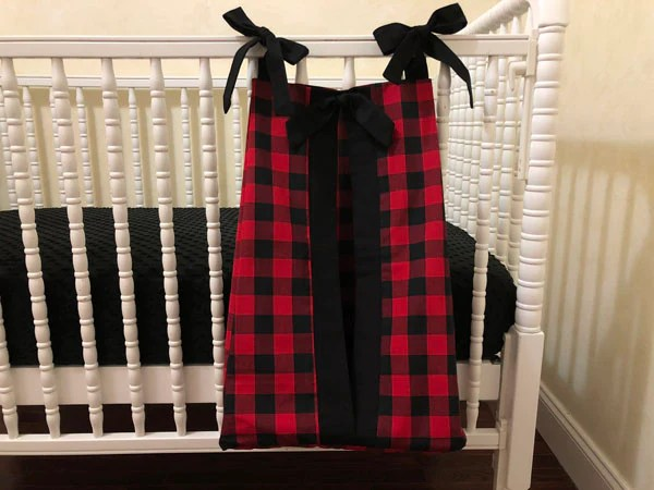 firefighter crib bedding set boy baby bedding red and black plaid fire truck baby bedding