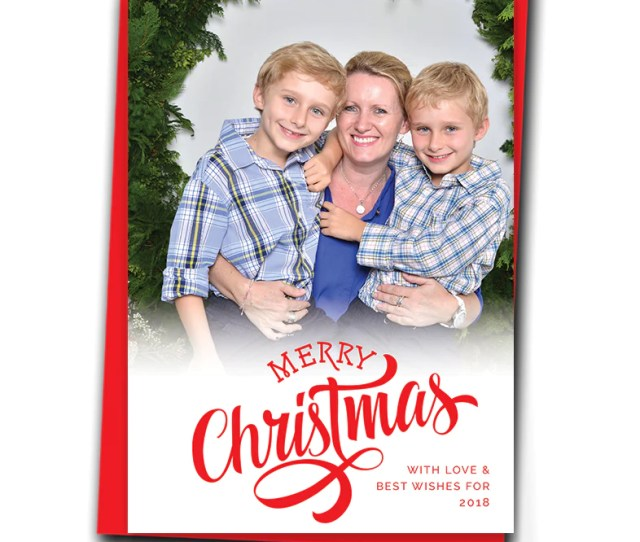 Bold Christmas Font Personalised Christmas Cards