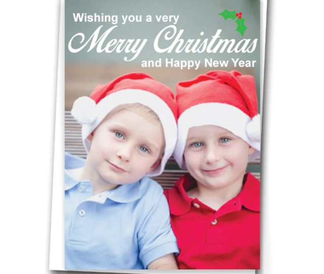 Simple Font Personalised Christmas Cards