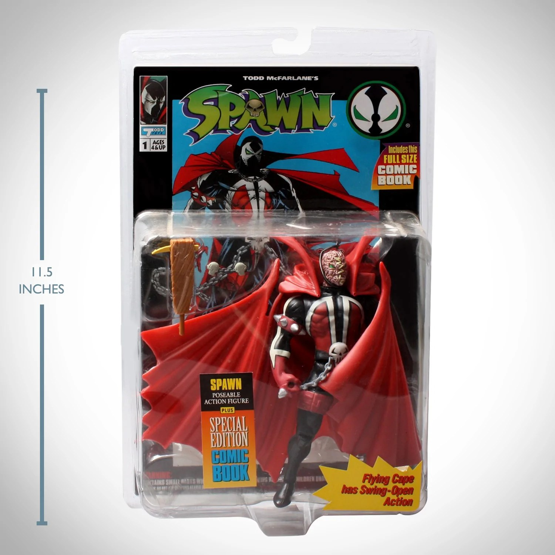 Spawn Unmasked Vintage 1994 Mcfarlane Toys 1st Spawn Action Figure Wit Rare T