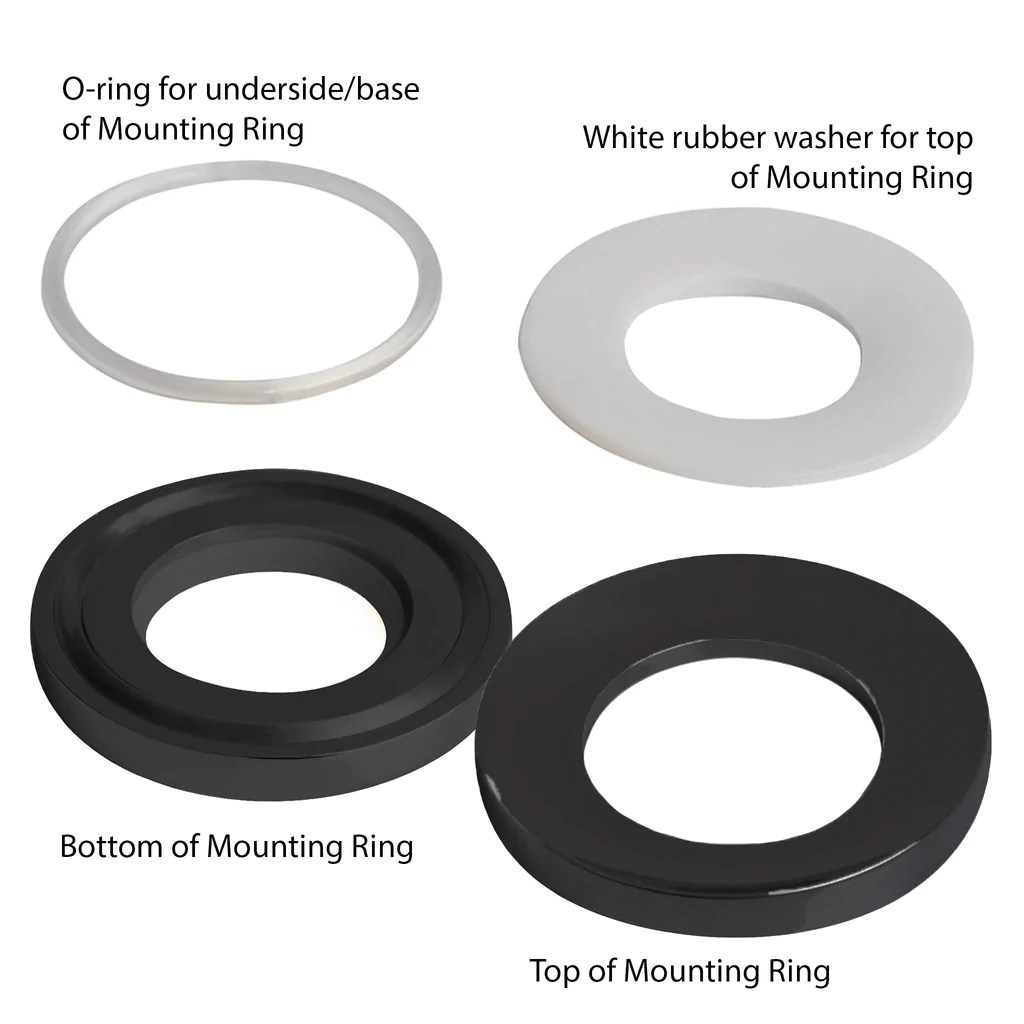 vessel sink mounting ring in solid brass mr 001 series