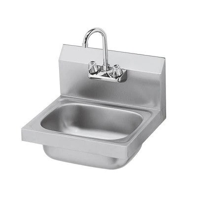 stainless steel wall mount hand sink with 4 faucet echef direct