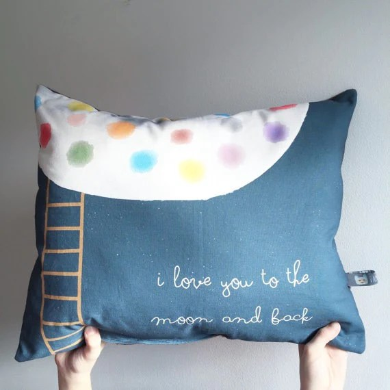 i love you to the moon and back pillow oh arthur