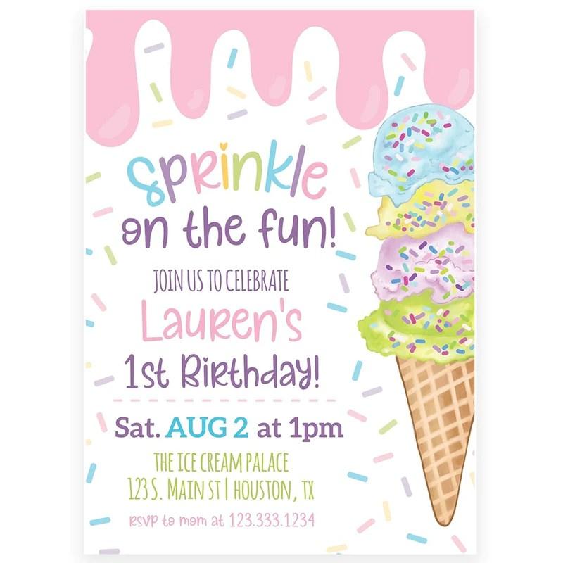 ice cream invitation