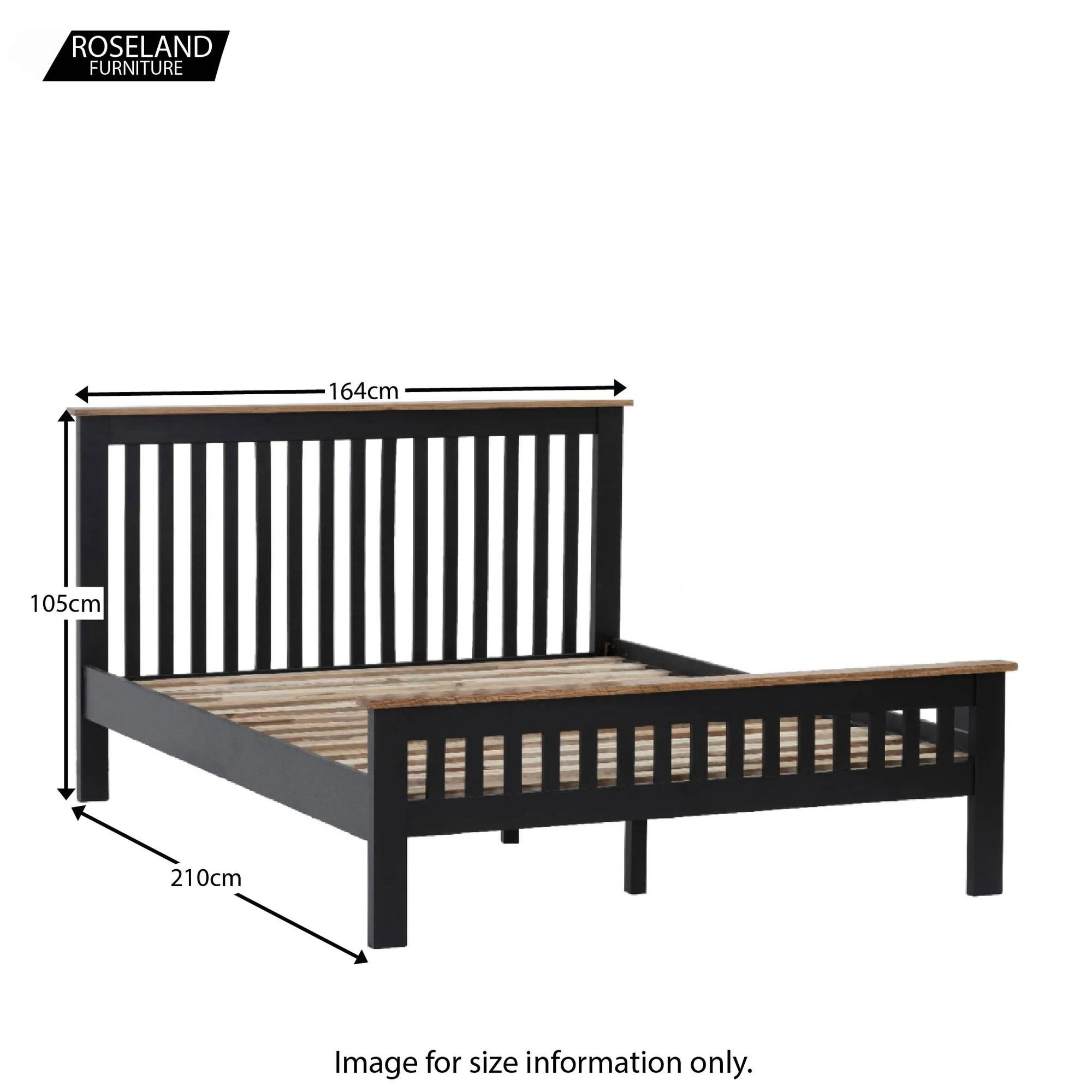 Charlestown Black 5 King Size Bed Frame Roseland Furniture
