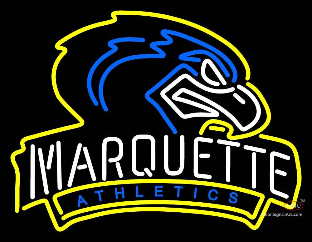 Marquette Golden Eagles Mascot Pres Logo NCAA Neon Sign ...