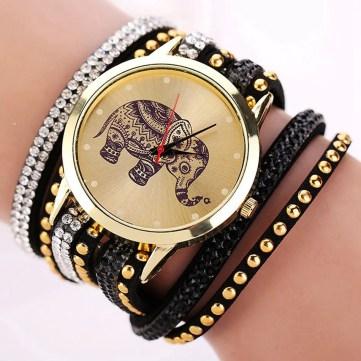 2-for-1 Elephant Watch and Bracelet Set