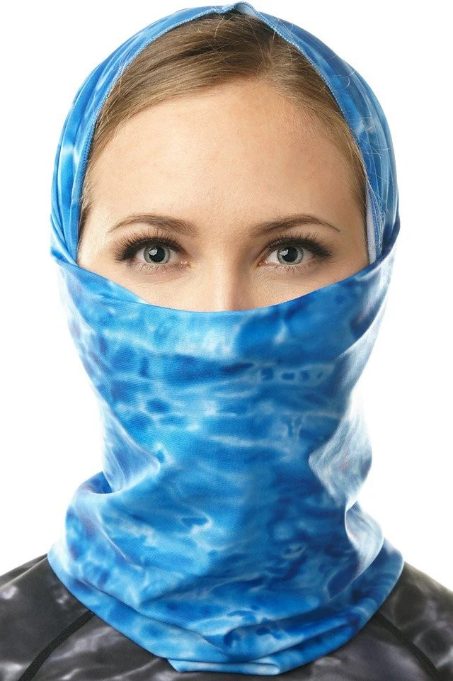 Womens Sun Protection Tube Face Mask UPF 50+ | Aqua Design