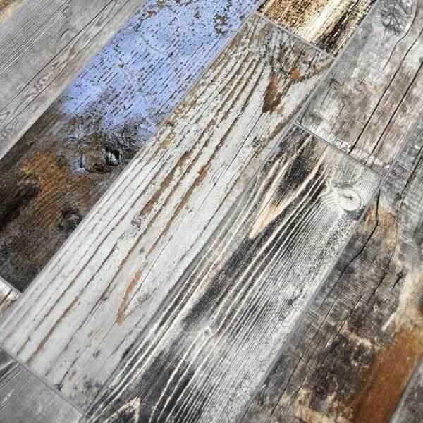 craft blue porcelain wood look tile 6x24