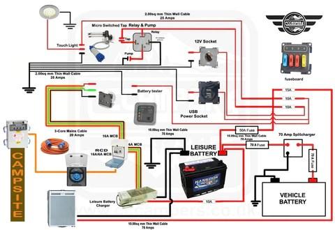 12v wiring diagram for camper  1992 corvette wiring