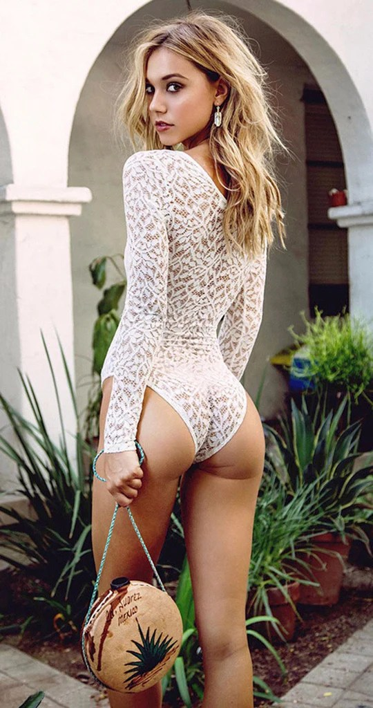 Deep V Sexy White Lace Jumpsuit Chic128