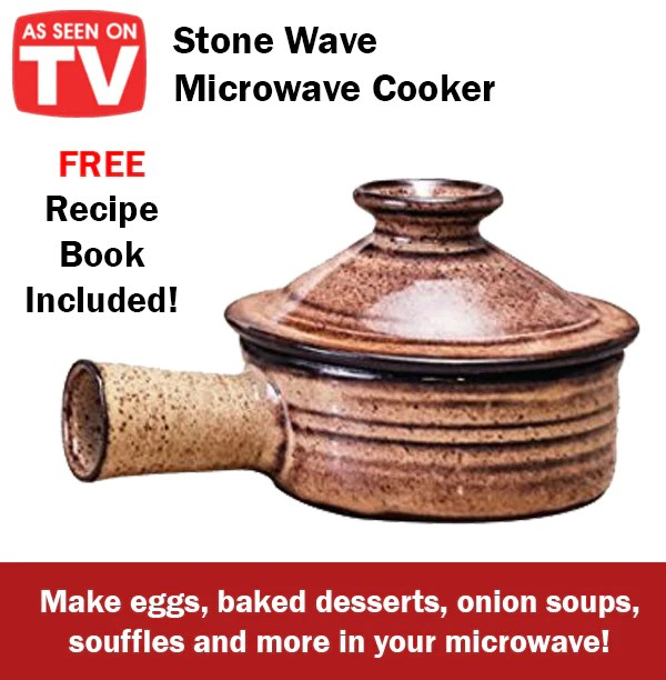 as seen on tv stone wave microwave cooker non stick dessert meals easy fast cook