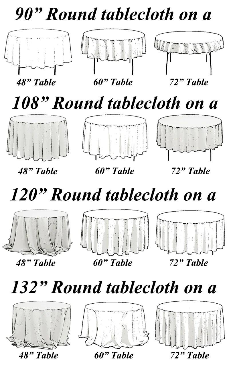 round wedding tablecloths wholesale