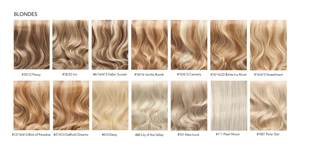 Hair Extensions Colour Chart Everyday Luxury Hair