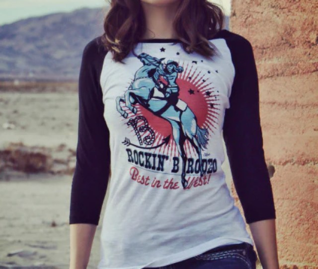 Original Cowgirl Clothing T Shirt Vintage Rodeo Cowgirl Baseball Tee Front