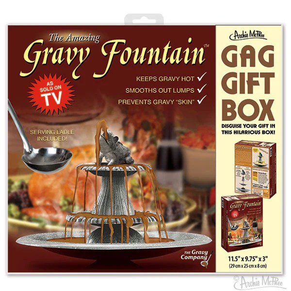 Gravy Fountain Gag Gift Box Archie McPhee Amp Co
