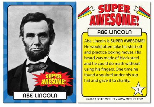 Super Awesome Trading Cards Archie McPhee Amp Co