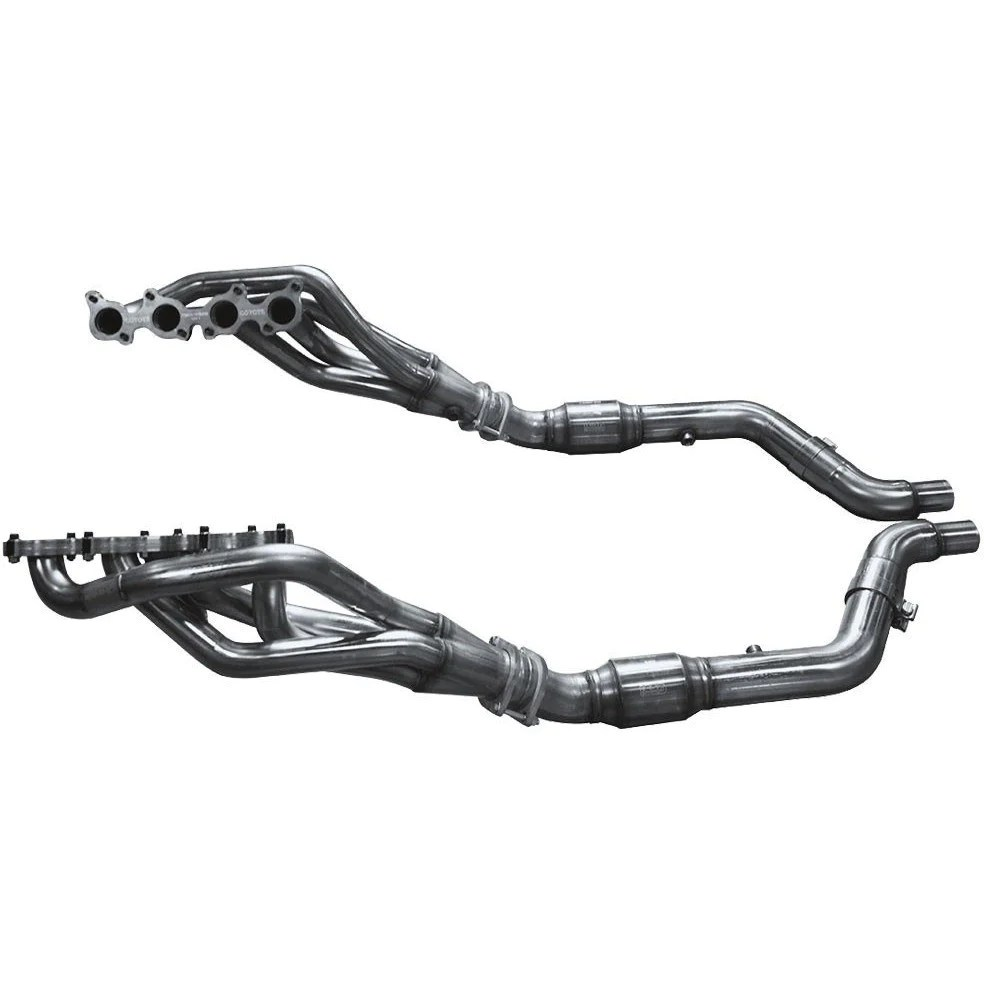 1 7 8 inch x 3 inch stainless steel long tube header w catted connection pipe