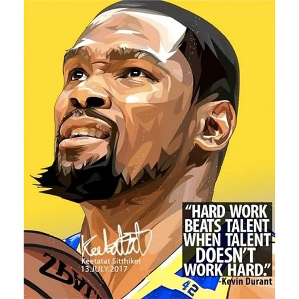 pop art poster wall decoration drawing nba kevin durant