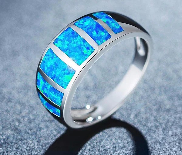 Colors Of The Caribbean Premium Blue Opal Ring Save Our