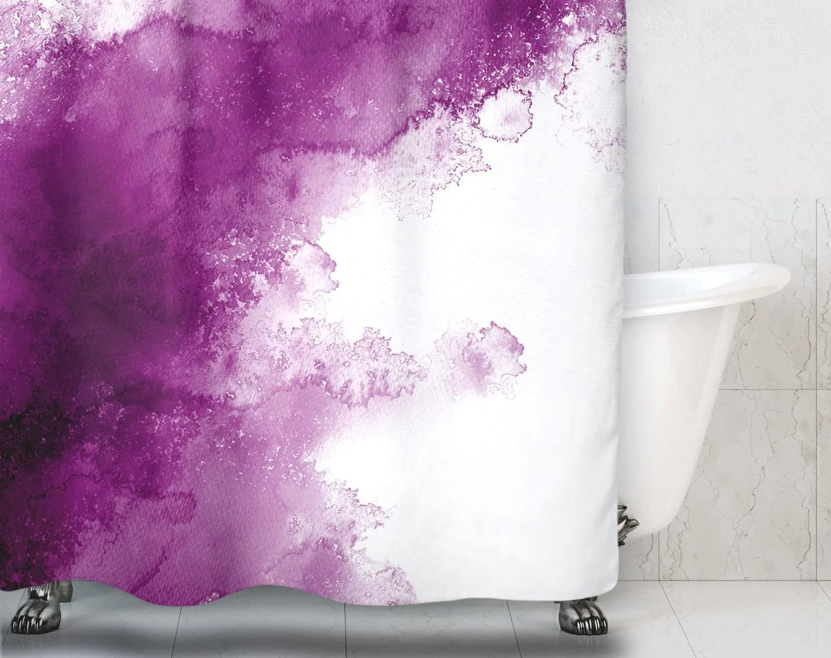 watercolor shower curtain