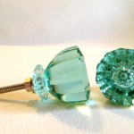 Antique Vintage Modern Mint Green Glass Cabinet Knobs Pulls S Dwyer Home Collection