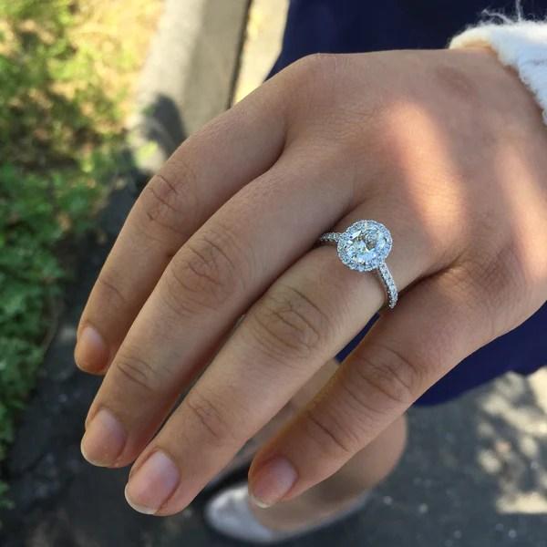 Oval Brilliant 130 Carat Forevermark Halo Engagement Ring