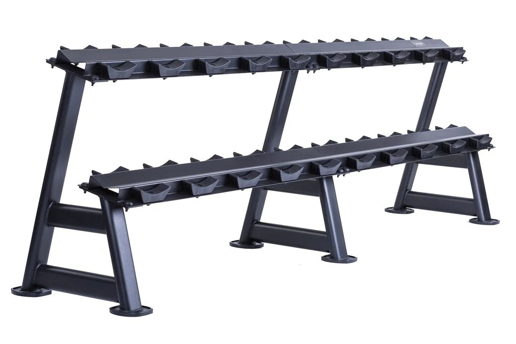 10 pair dumbbell rack 2 tier serious fitness limited