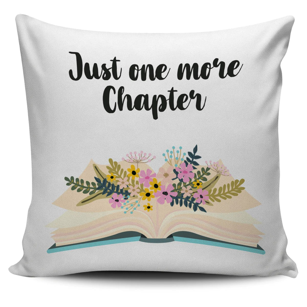 just one more chapter book pillow cover