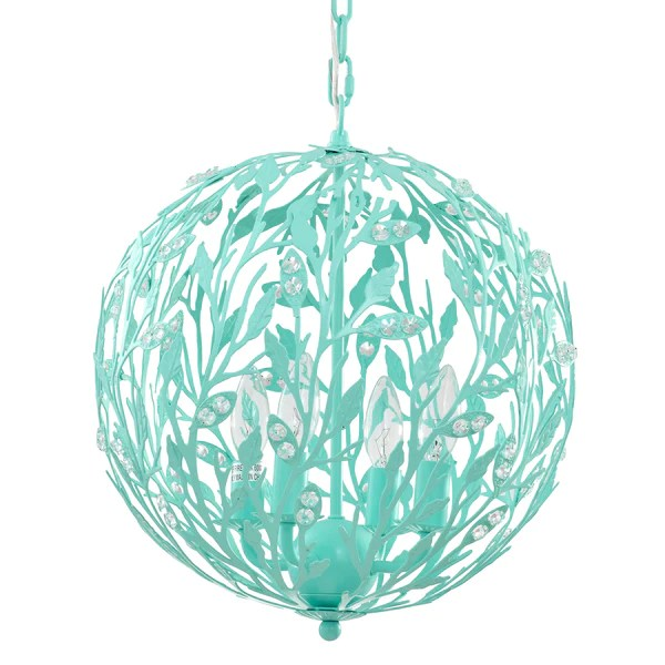 Luna Light Fixture In Turquoise Kids Lighting Firefly
