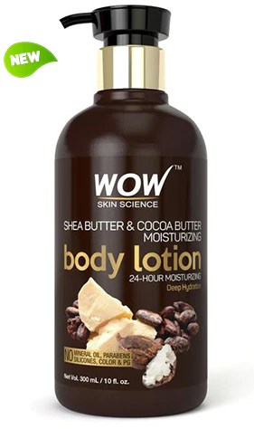 Wow Skin Science Shea & Cocoa Butter Body Lotion