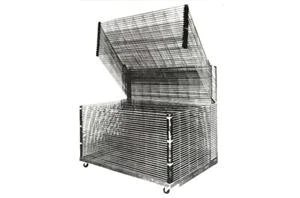 industrial multi rack screen printing drying racks