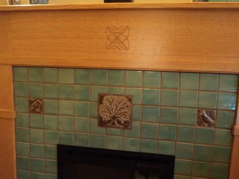 a craftsman fireplace ceramic