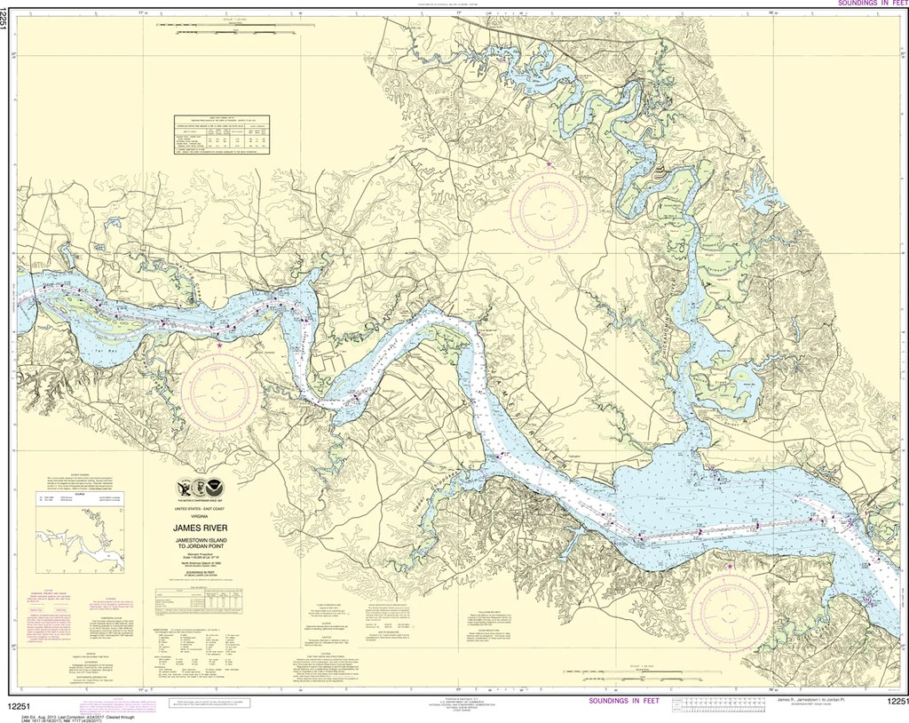 Gilmer, chief engineer. presented to the virginia historical society by his only daughter, mrs. Noaa Chart 12251 James River Jamestown Island To Jordan Point Captain S Nautical Books Charts