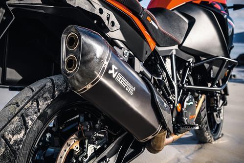 ktm akrapovic black slip on line exhaust 1090 1290 adv r super adv r s t 2017 2020