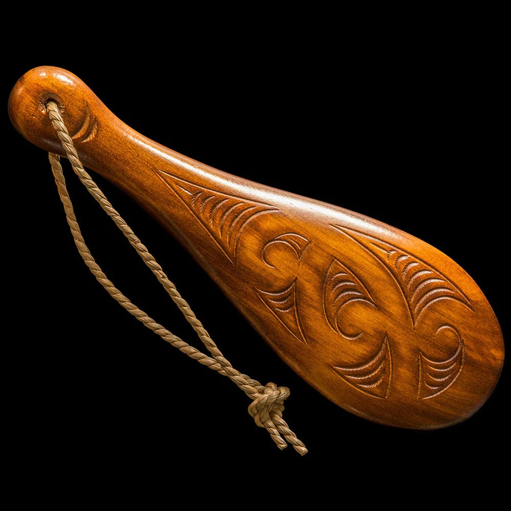 Small Carved Wooden Maori Patu – The Bone Art Place