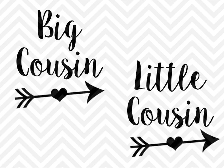 Download Big Cousin Little Cousin SVG and DXF Cut File • Png ...
