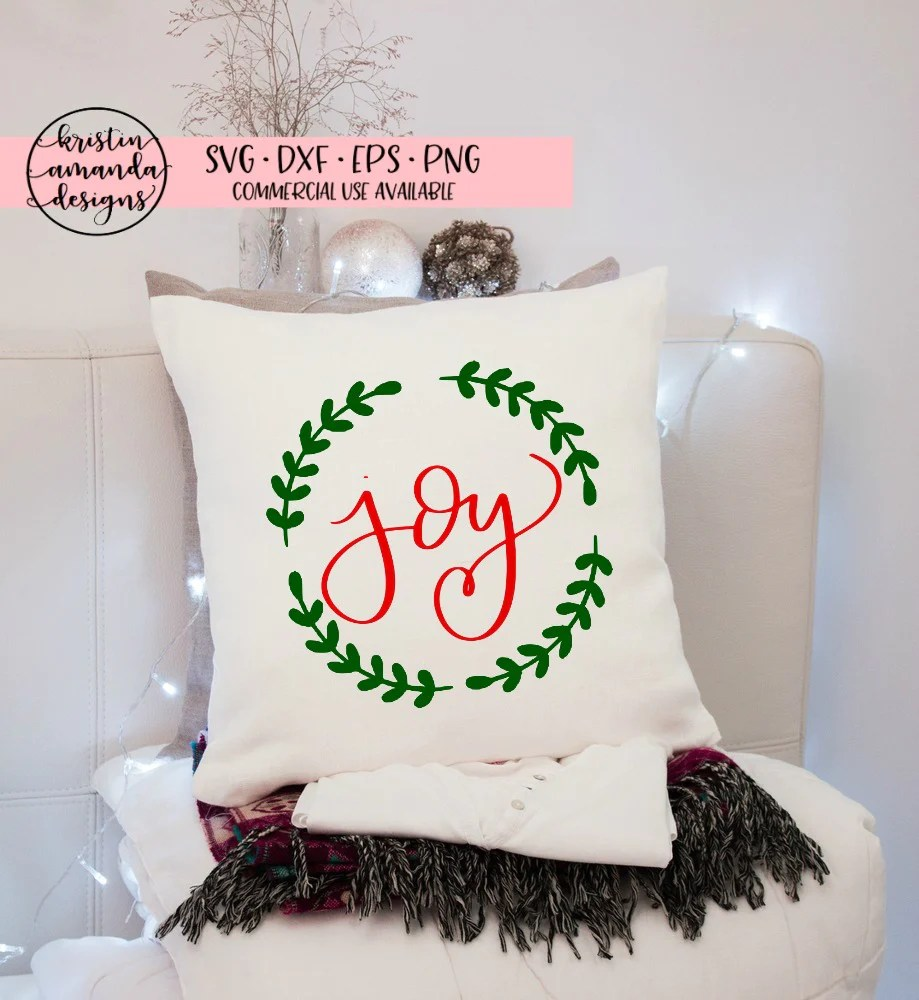 Download Joy Farmhouse Christmas Hand Lettered SVG DXF EPS PNG Cut ...