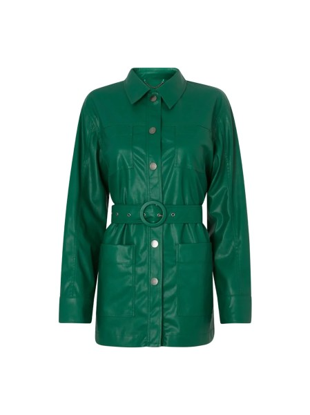 Victoria Green Faux Leather Jacket