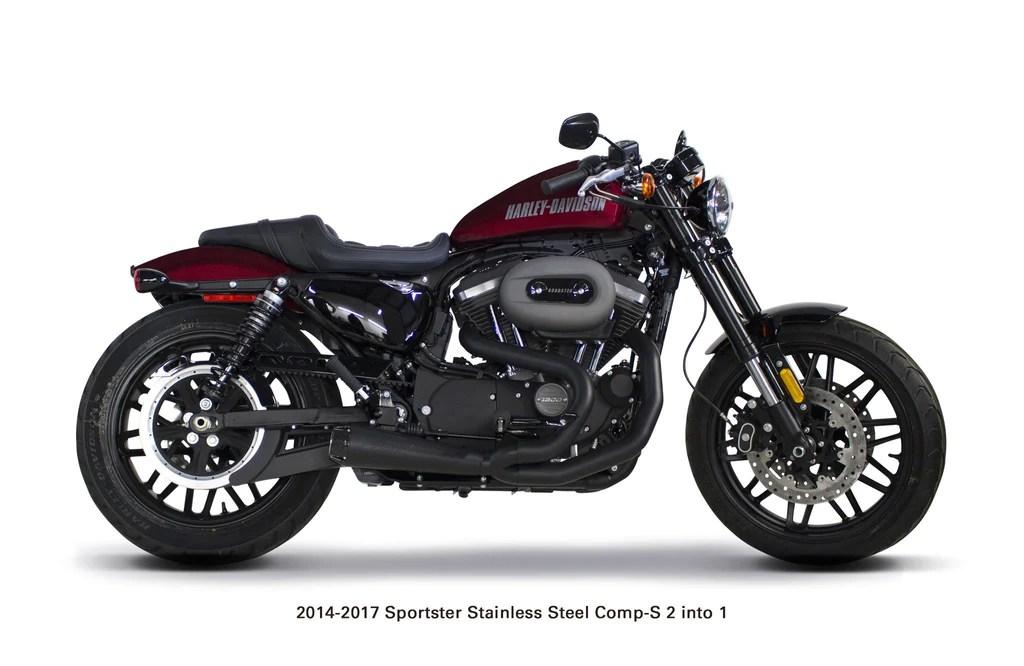 harley davidson sportster 2014 2021 comp s 2 1 stainless steel full system