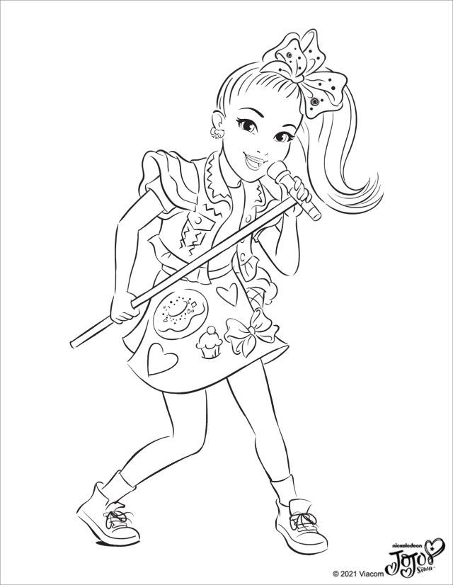 CultureFly  JoJo Siwa Coloring Pages