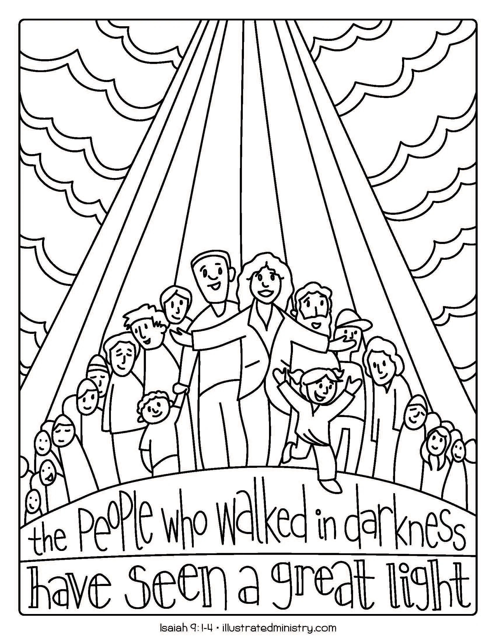 Bible Story Coloring Pages Winter 2019 2020 Illustrated Ministry