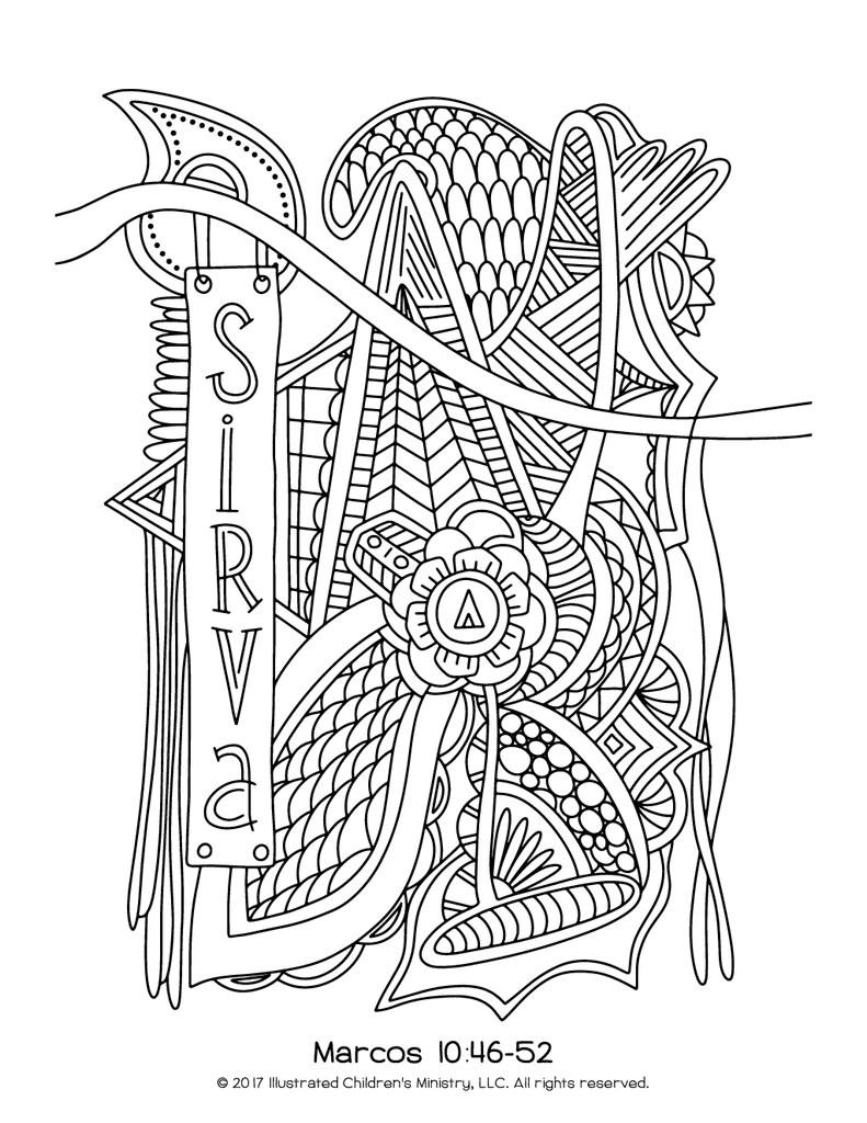 lenten coloring pages  8.5x11 ()  spanishlanguage