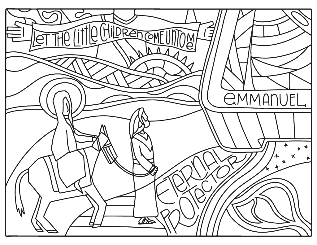 2016 Advent Coloring Pages 8 5x11 Illustrated Children